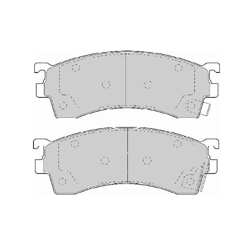 Diskinės stabdžių trinkelės EGT 321484