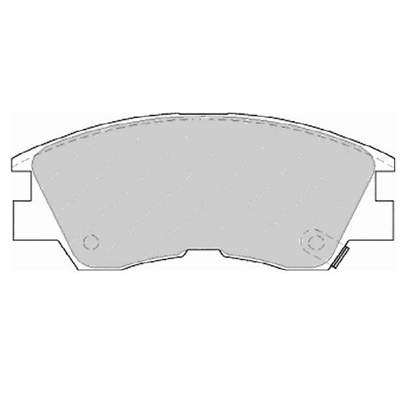Diskinės stabdžių trinkelės FTH 556 (EGT 321461)