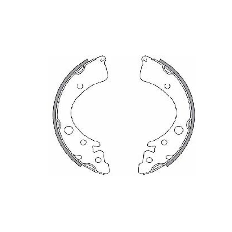 Барабанные тормозные колодки FTH (EGT 421425)