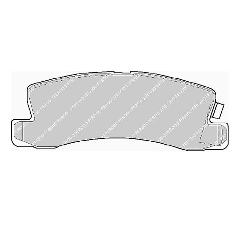 Disk brake pads FTH 478 (EGT 321488)