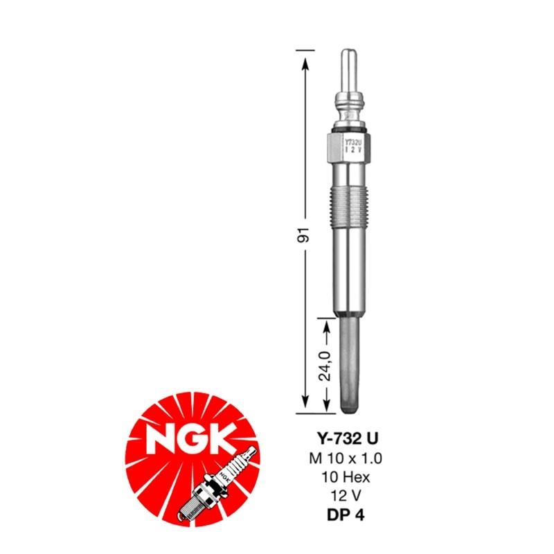 Glow plug NGK DP04-Y732U (6001)
