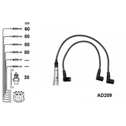 Ignition leads set PVL-AD209