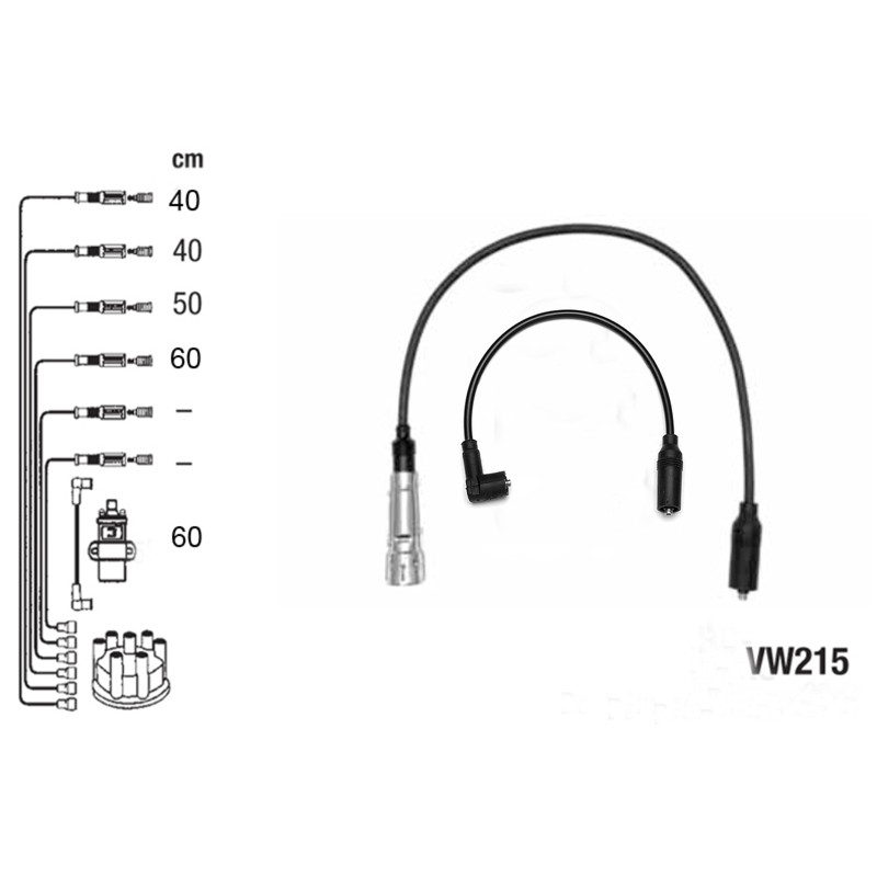 Ignition leads set PVL-VW215