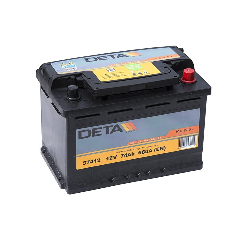 DETA 57412 74Ач аккумулятор