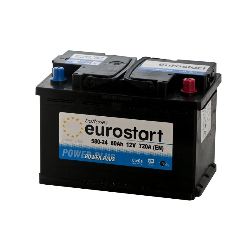 EUROSTART POWER PLUS 58024 80Ah akumuliatorius