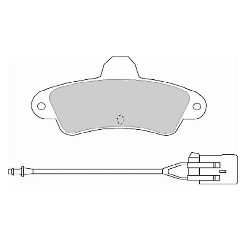 Disk brake pads EGT 321575