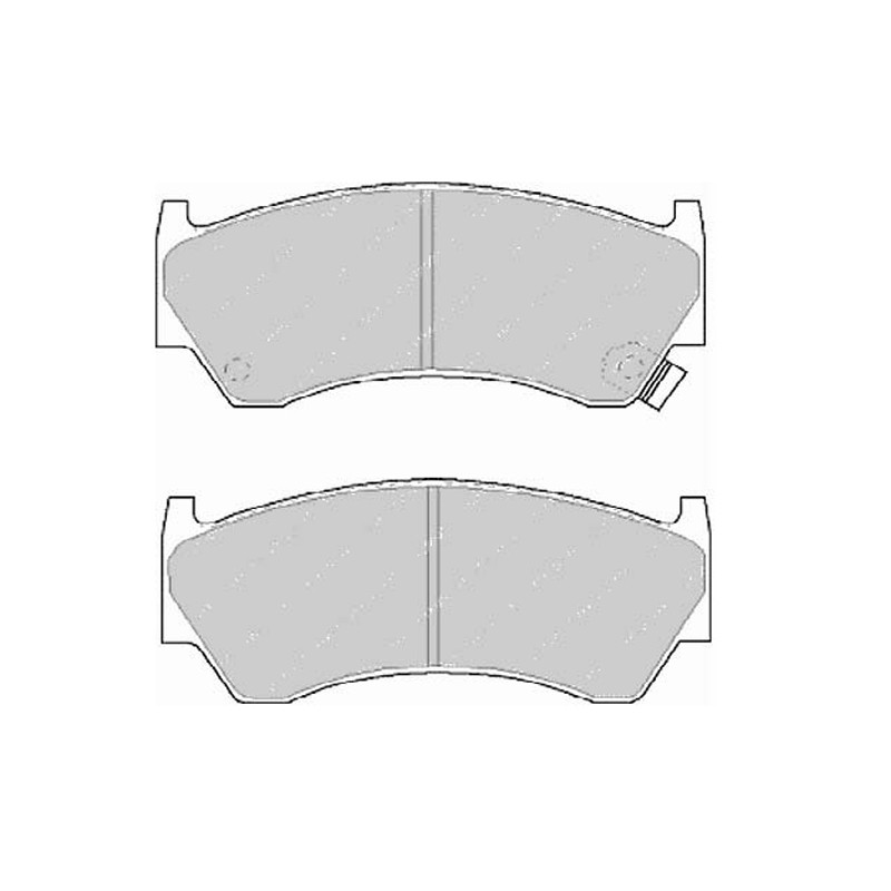 Дисковые тормозные колодки FTH 1091 (EGT 321493)