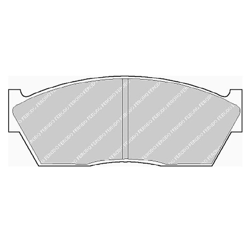 Diskinės stabdžių trinkelės FTH 285 (EGT 321422)