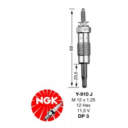 Glow plug NGK DP03-Y910J (3617)