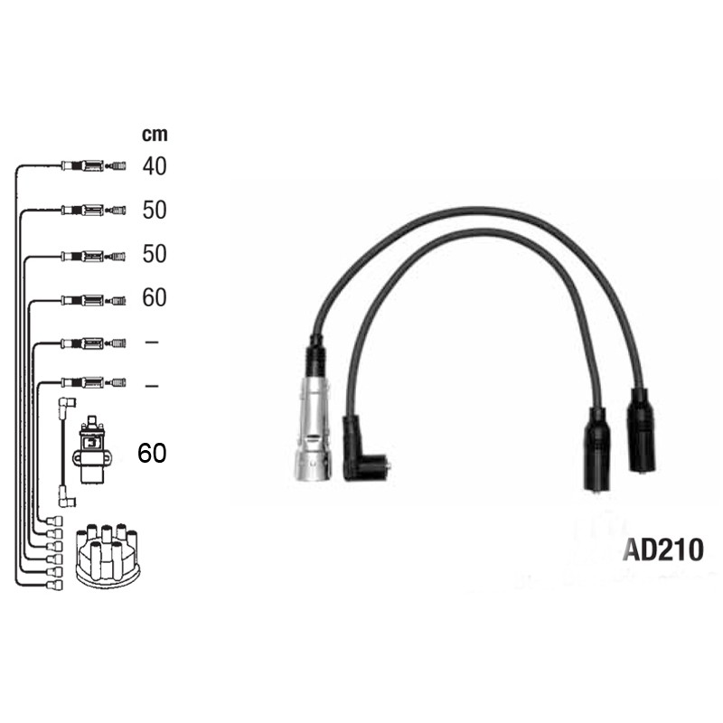 Ignition leads set PVL-AD210