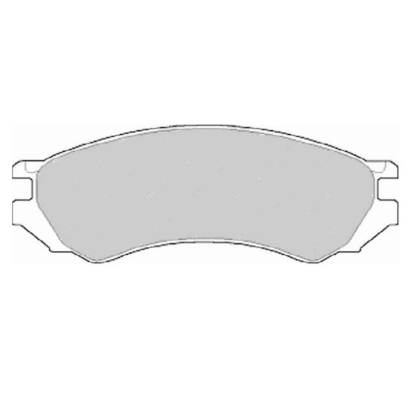 Diskinės stabdžių trinkelės FTH 667 (EGT 321456)