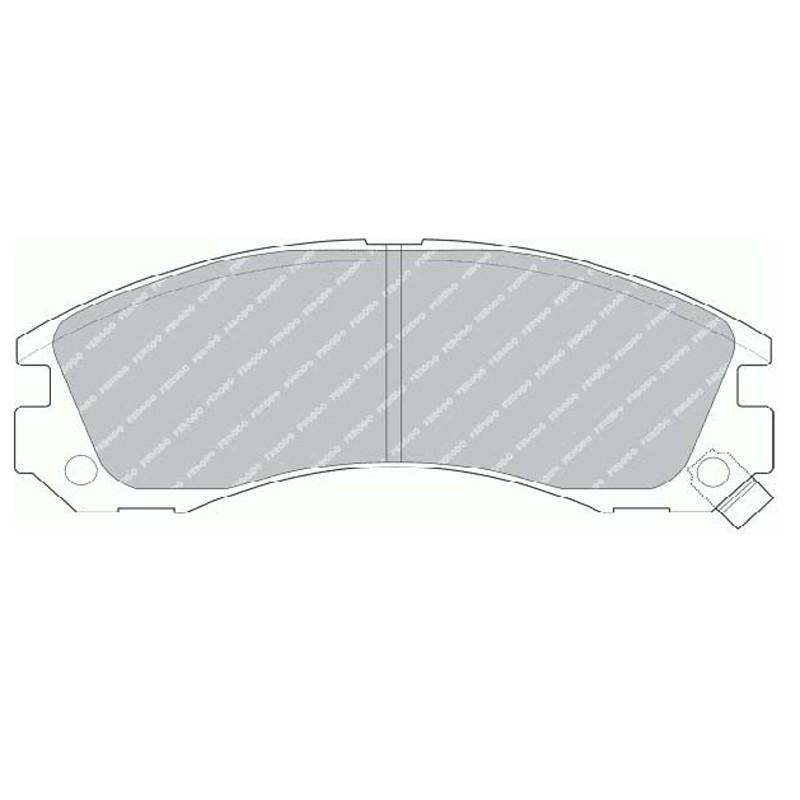 Disk brake pads FTH 765 (EGT 321459)