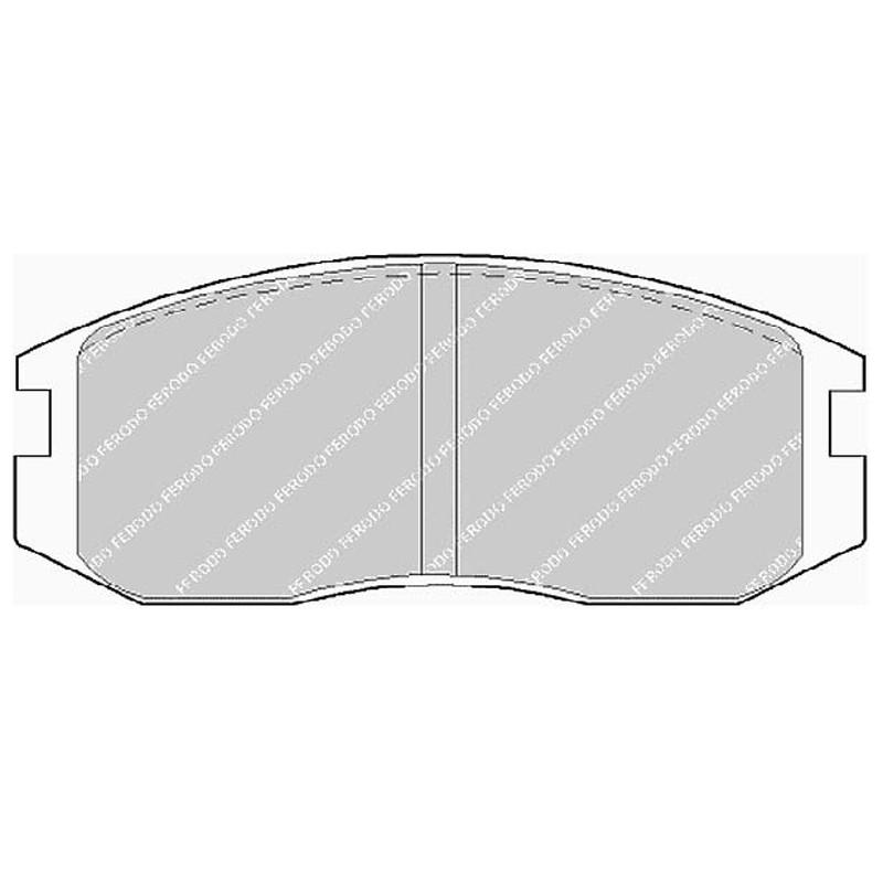 Diskinės stabdžių trinkelės EGT 321477
