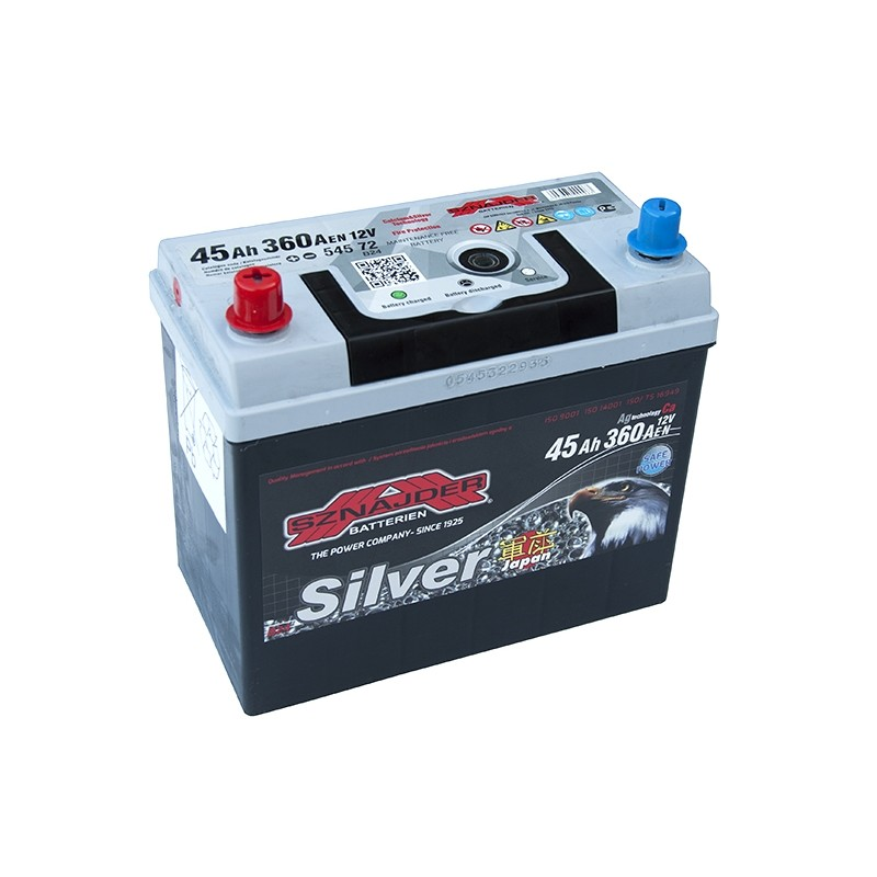 SZNAJDER JAPAN SILVER 54572 45Ah battery