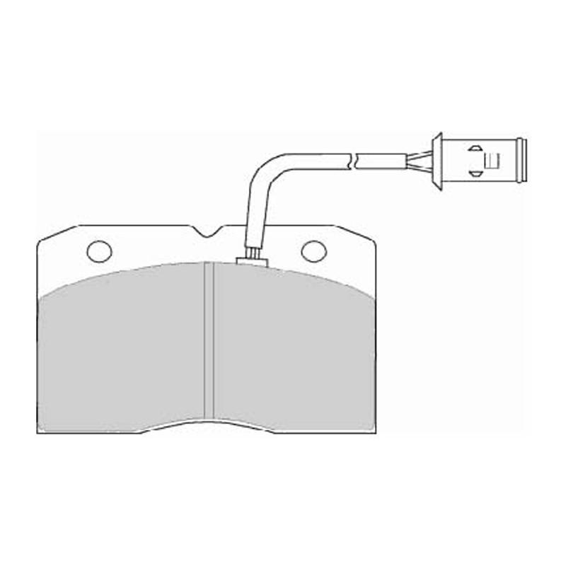 Disk brake pads FTH 655 (EGT 321522)