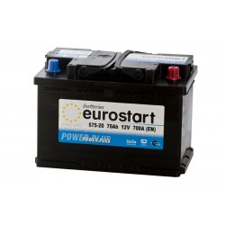 EUROSTART POWER PLUS 57520 75Ah akumuliatorius