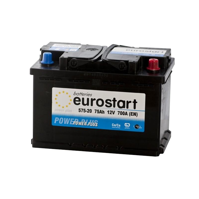 EUROSTART POWER PLUS 57520 75Ач аккумулятор
