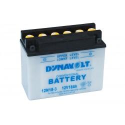 DYNAVOLT 12N18-3 18Ач аккумулятор