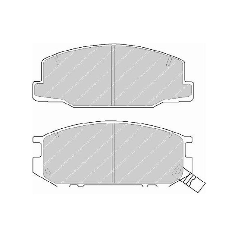 Diskinės stabdžių trinkelėsF TH 932 (EGT 321499)