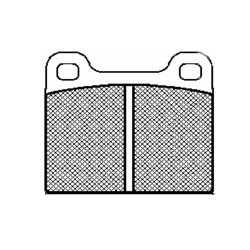 Diskinės stabdžių trinkelės FTH 002 (EGT 321393)