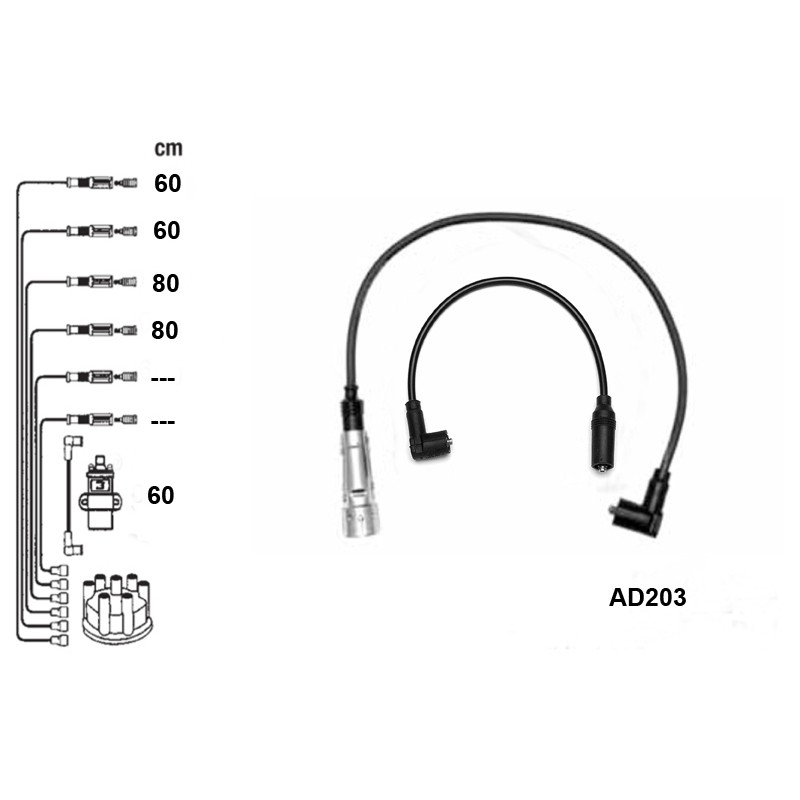 Ignition leads set PVL-AD203