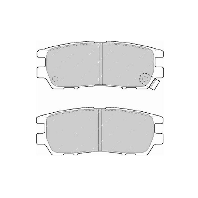 Diskinės stabdžių trinkelės FTH 804 (EGT 321489)