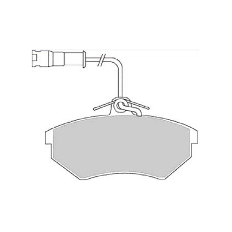 Diskinės stabdžių trinkelės EGT 321606