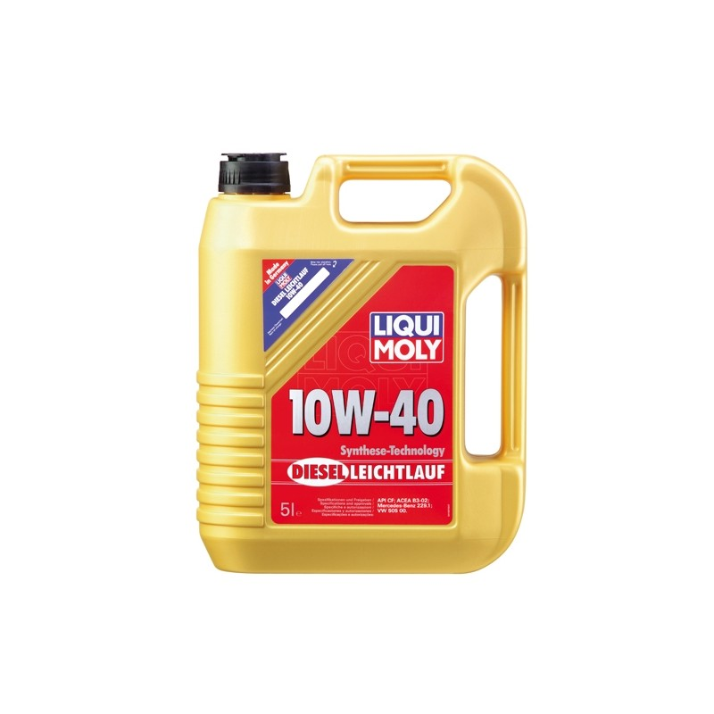 Diesel motor oil SAE 10W-40 DIESEL LEICHTLAUF LIQUI MOLY 1387