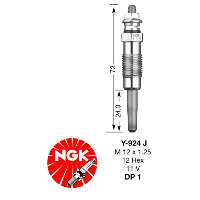 Glow plug NGK DP01-Y924J (7906)