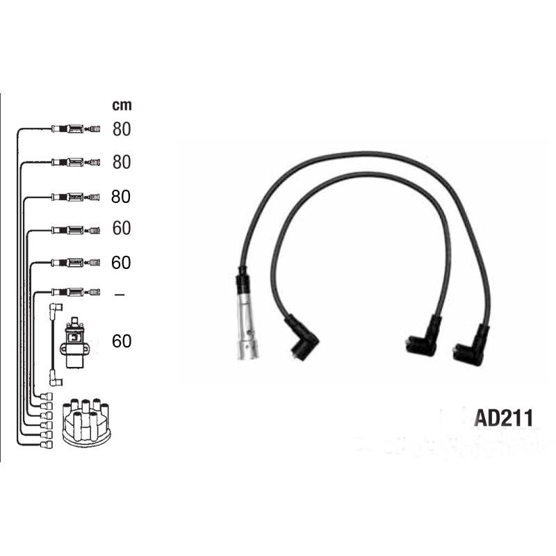 Комплект проводов высокого напряжения PVL-AD211