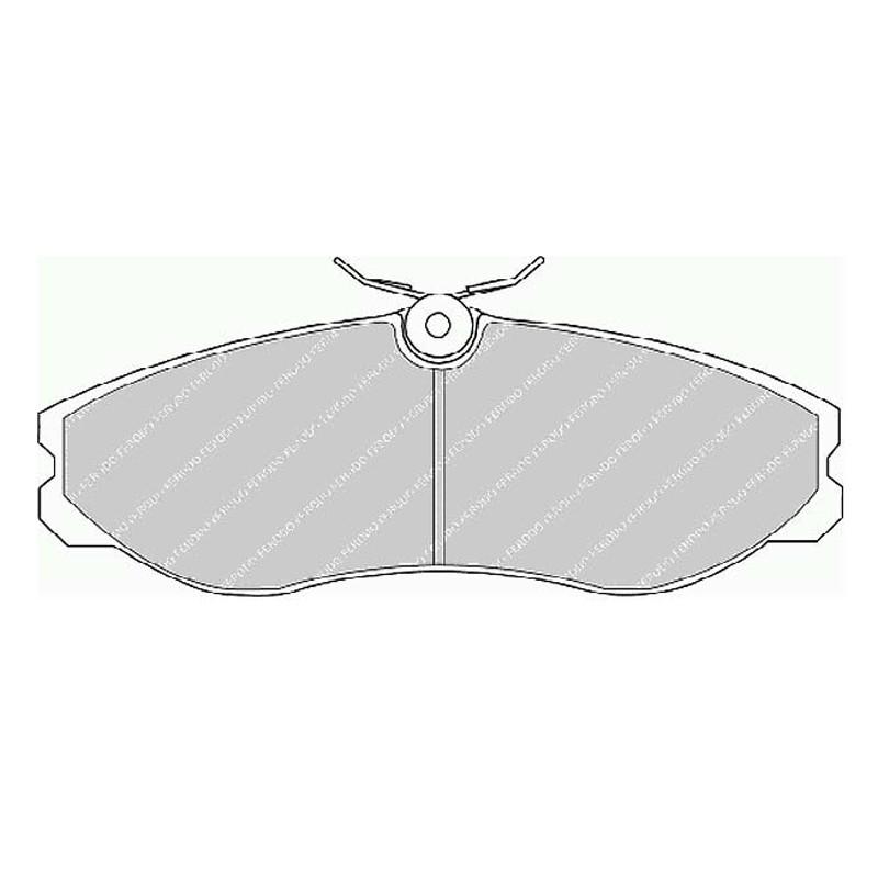 Disk brake pads FTH 909 (EGT 321549)
