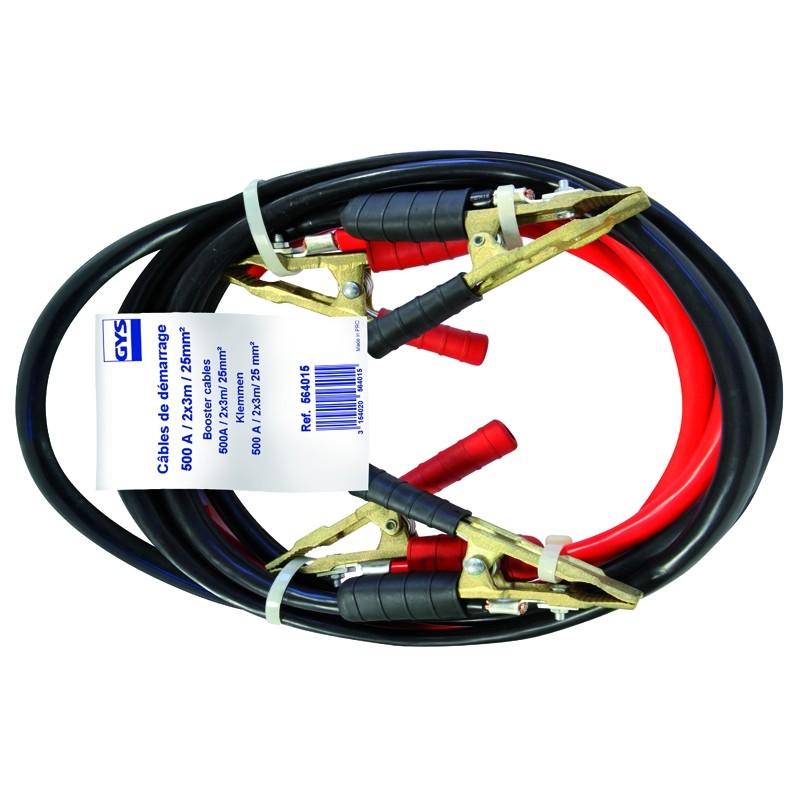 Пусковые провода GYS (500A /25mm²-3.0m) PRO