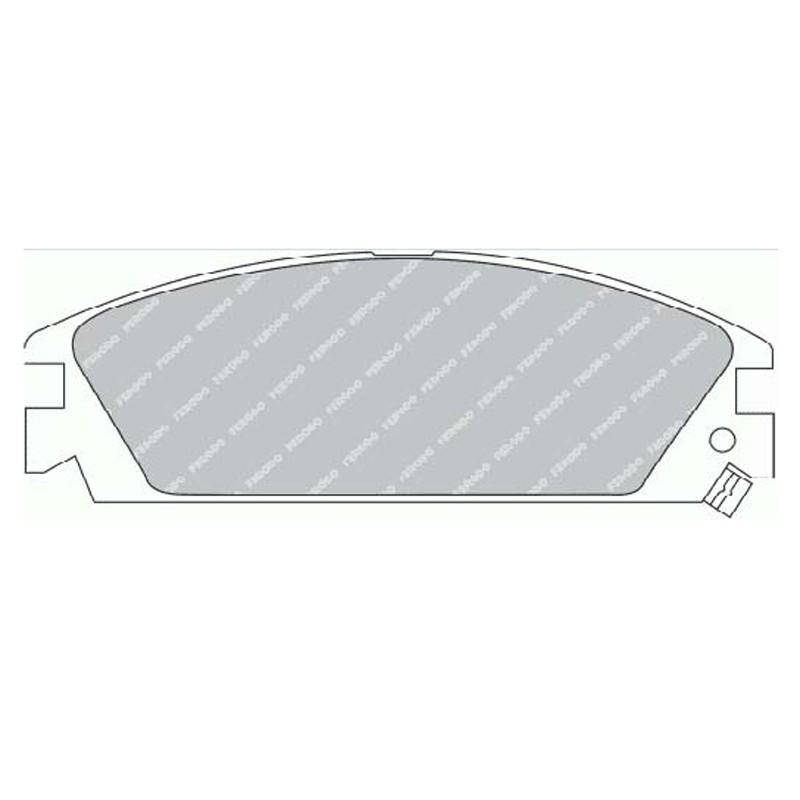 Disk brake pads FTH 454 (EGT 321394)