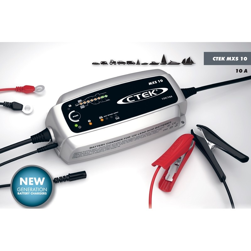Microprocessor controled battery charger CTEK MXS 10