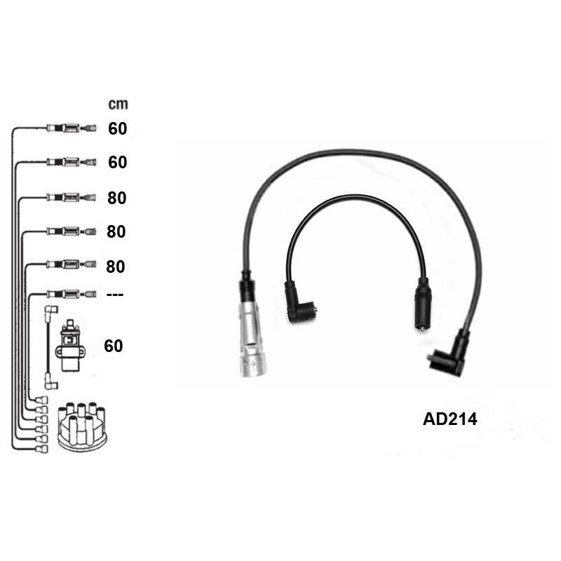 Комплект проводов высокого напряжения PVL-AD214