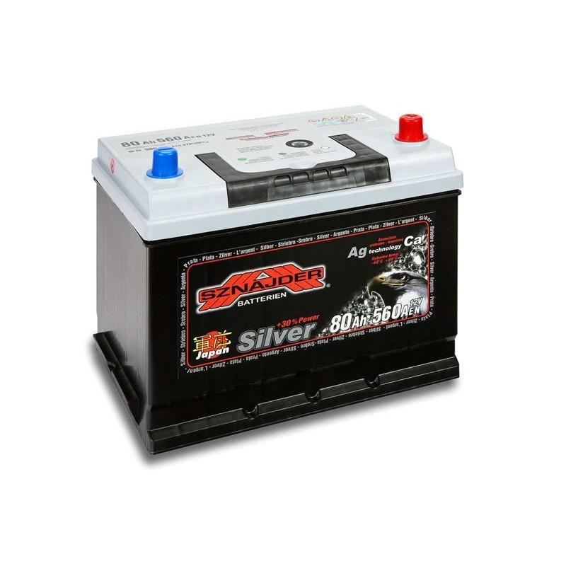 SZNAJDER JAPAN SILVER 58070 80Ah akumuliatorius