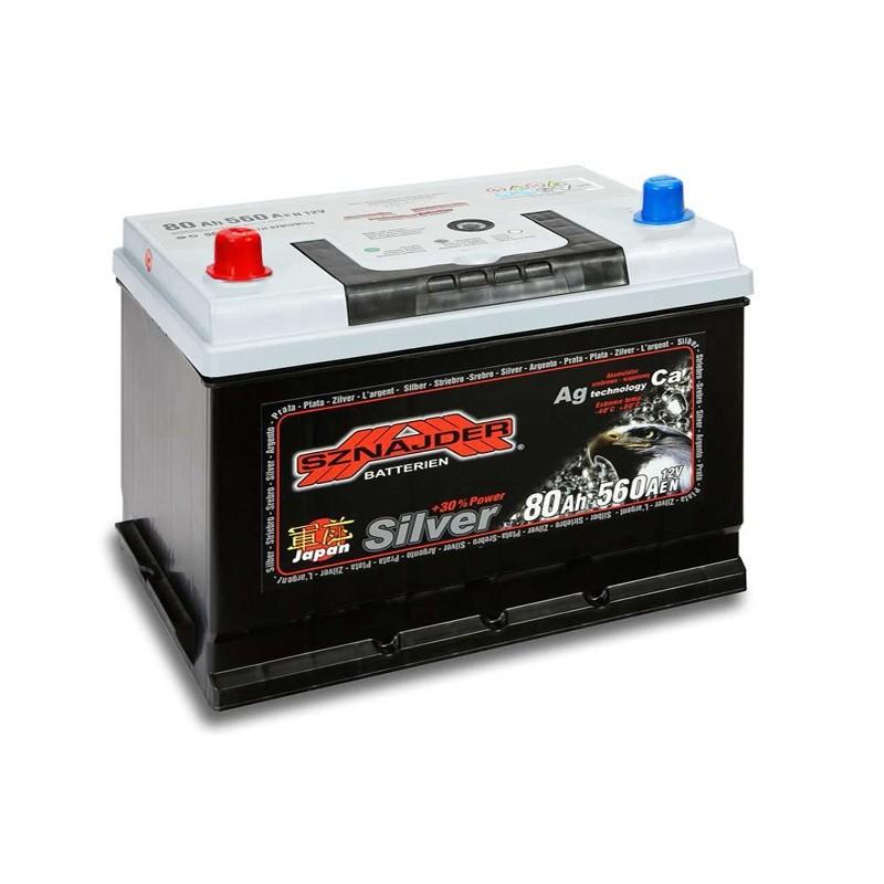 SZNAJDER JAPAN SILVER 58072 80Ah akumuliatorius