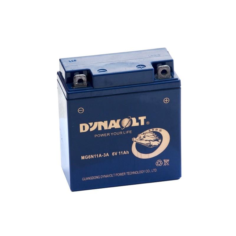 DYNAVOLT MG6N11A-3A 6V 11Ah akumuliatorius