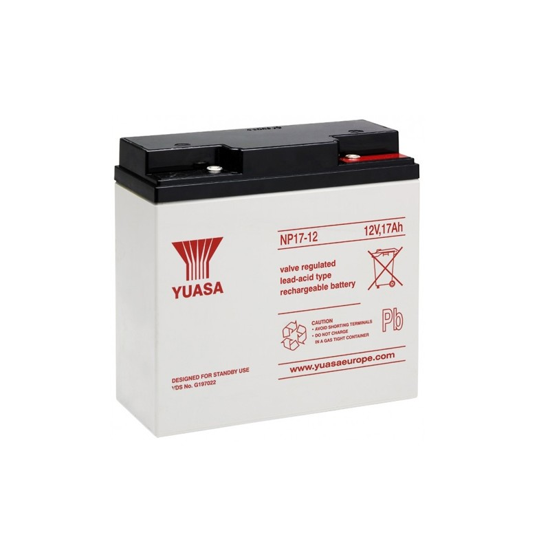 YUASA NP17-12 12V 17Ah AGM VRLA battery