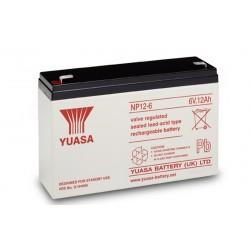 YUASA NP12-6 6V 12h AGM VRLA battery