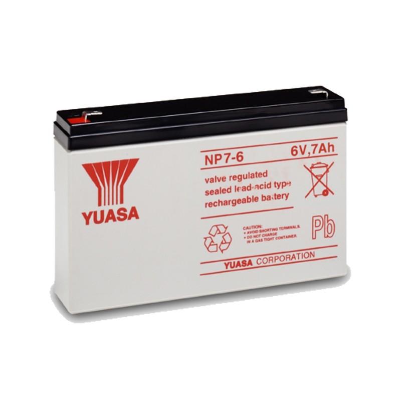 YUASA NP7-6 6V 7Ah AGM VRLA akumuliatorius
