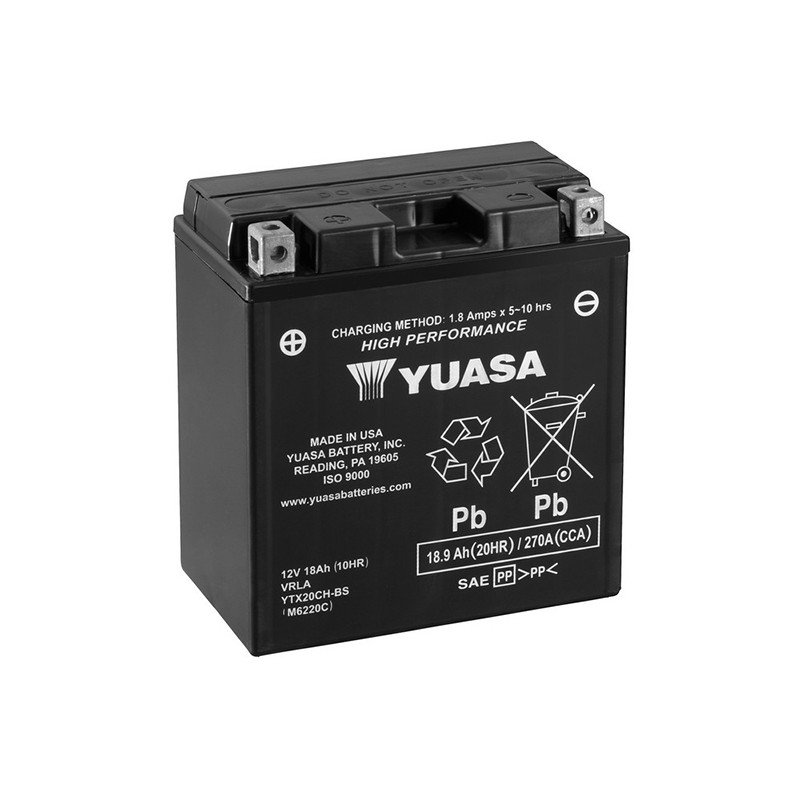 YUASA YTX20CH-BS 18.9Ач (C20) аккумулятор