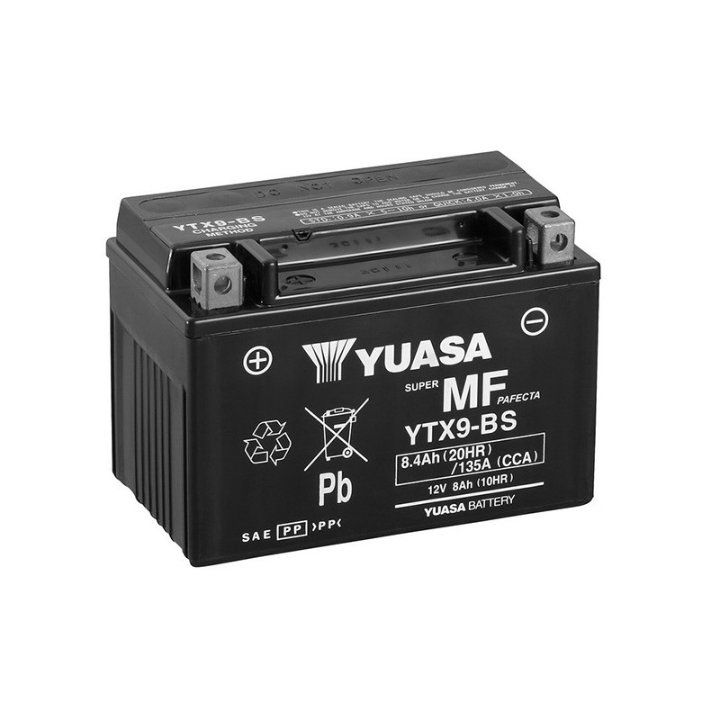 YUASA YTX9-BS 8.4Ah (C20) akumuliatorius