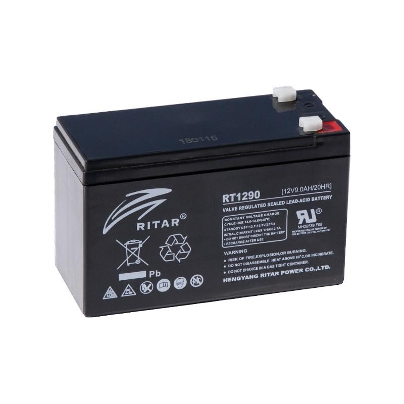 RITAR RT1290 12В 9Ач AGM VRLA аккумулятор