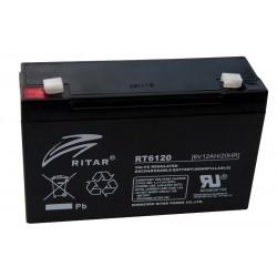 RITAR RT6120 6В 12Ач AGM VRLA аккумулятор