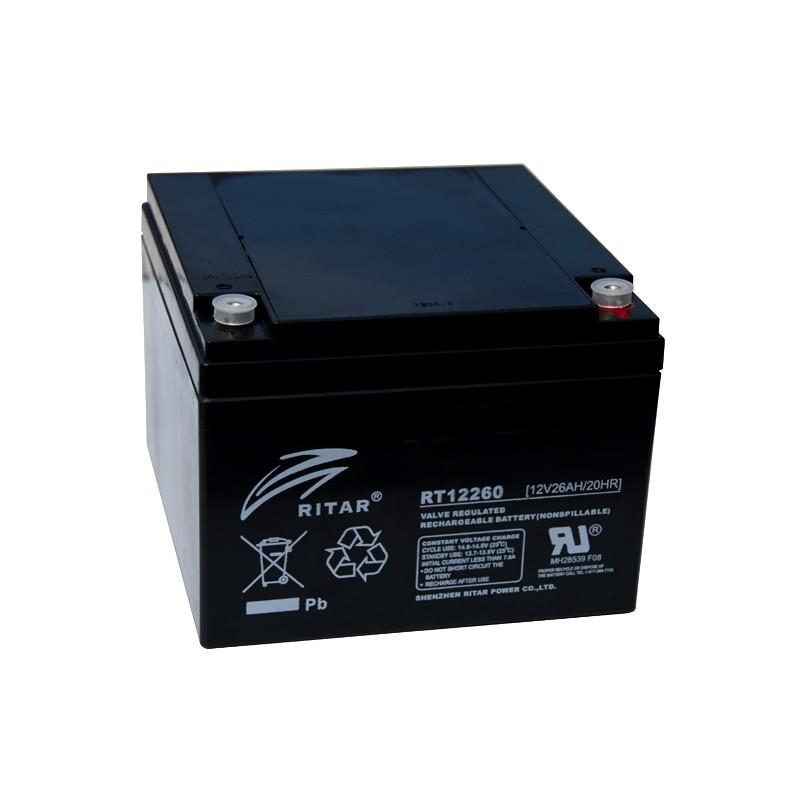 RITAR RT12260 12V 26Ah AGM VRLA akumuliatorius