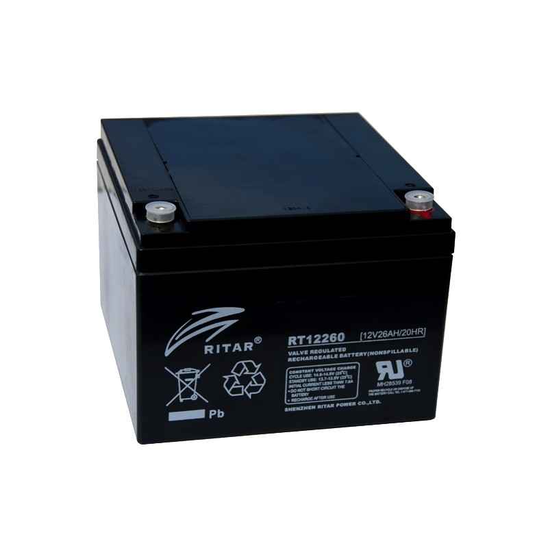 RITAR RT12260 12V 26Ah AGM VRLA battery