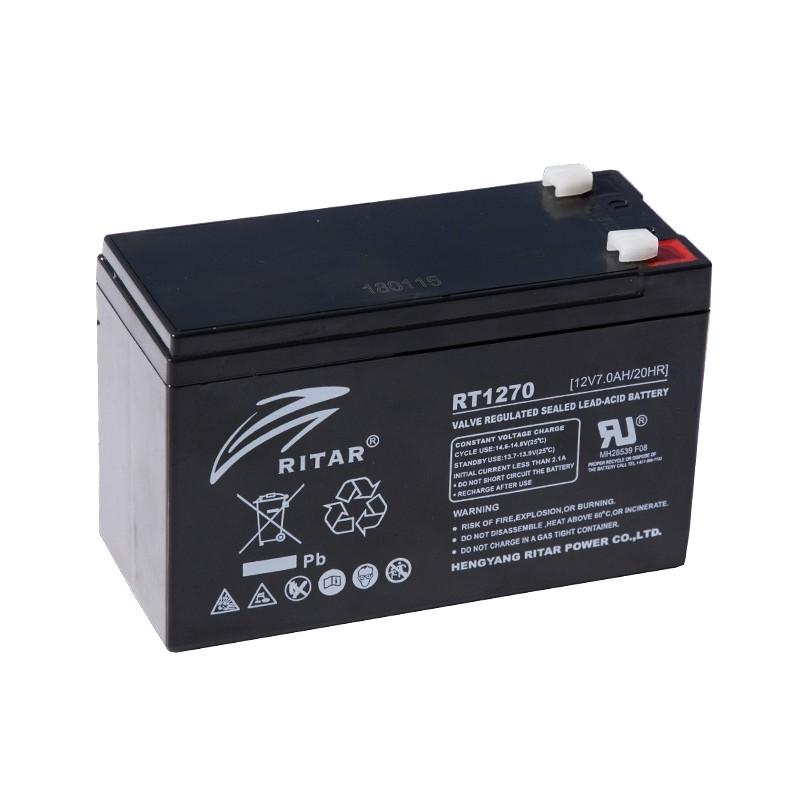 RITAR RT1270E 12V 7Ah AGM VRLA akumuliatorius