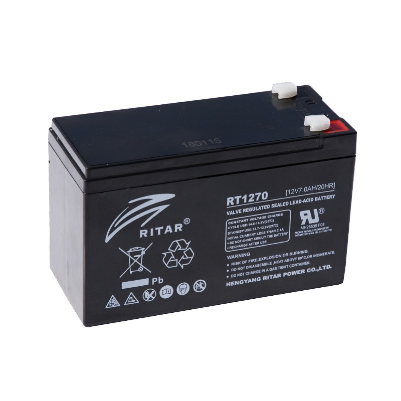 RITAR RT1270 12V 7Ah AGM VRLA battery