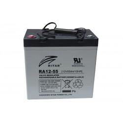 RITAR RA12-55 12V 55Ah AGM VRLA battery